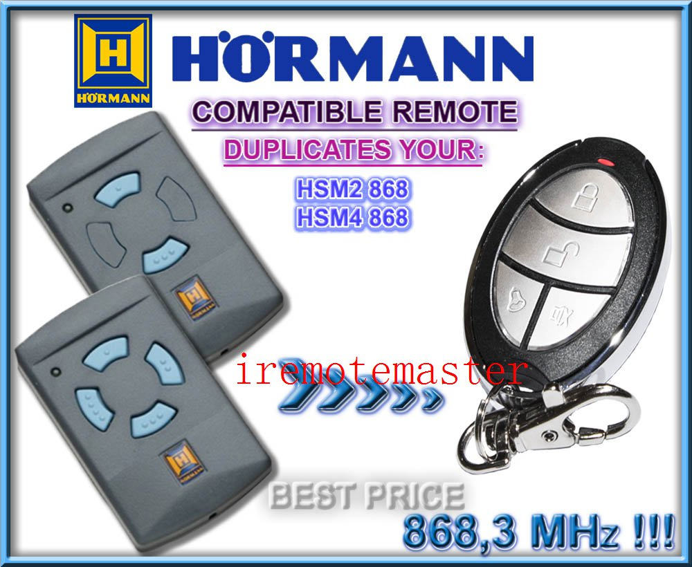Hot items! Replacement remote for Hormann HSM2 868,HSM4 868mhz hormann hs1 868 hs2 868 hs4 868mhz remote control replacement