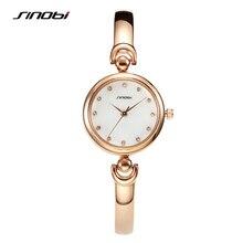 SINOBI Fashion Women's Golden Bracelet Wrist Watches Luxury Brand Females Geneva Quartz Clock Ladies Wristwatch 2017 Montre G26