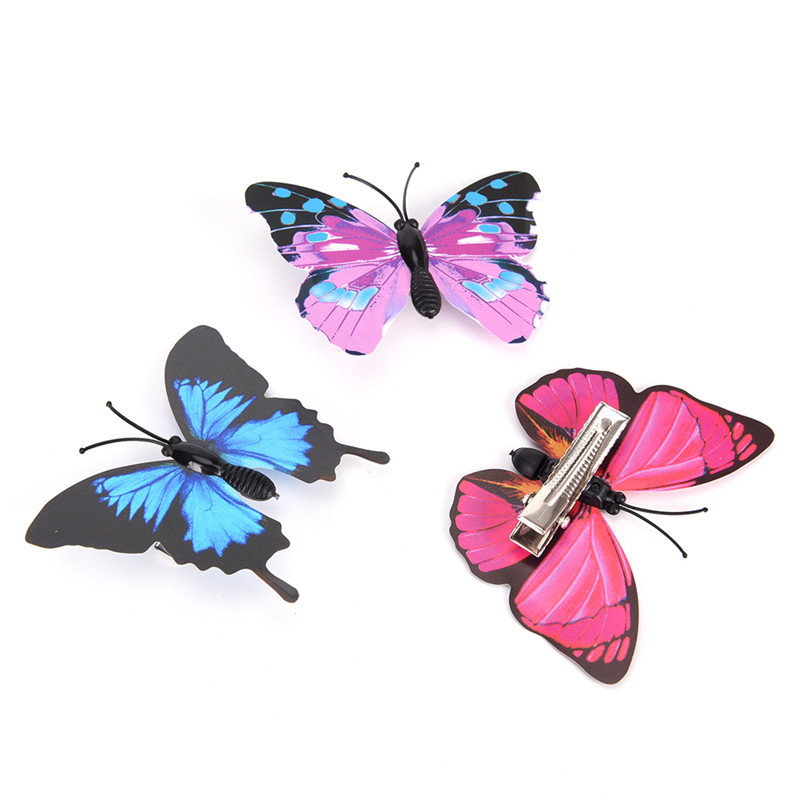 12  Fashion Women Girls Butterfly Hair Clips Wedding Pins Party Bride Hairpins