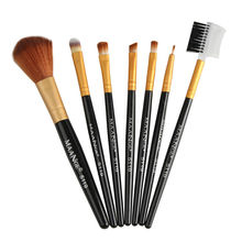 7Pcs Diamond Shape Makeup Brush Set Dazzle Glitter Foundation Powder Makeup Brushes Rainbow Makeup Eyeshadow Blending Brush Kit