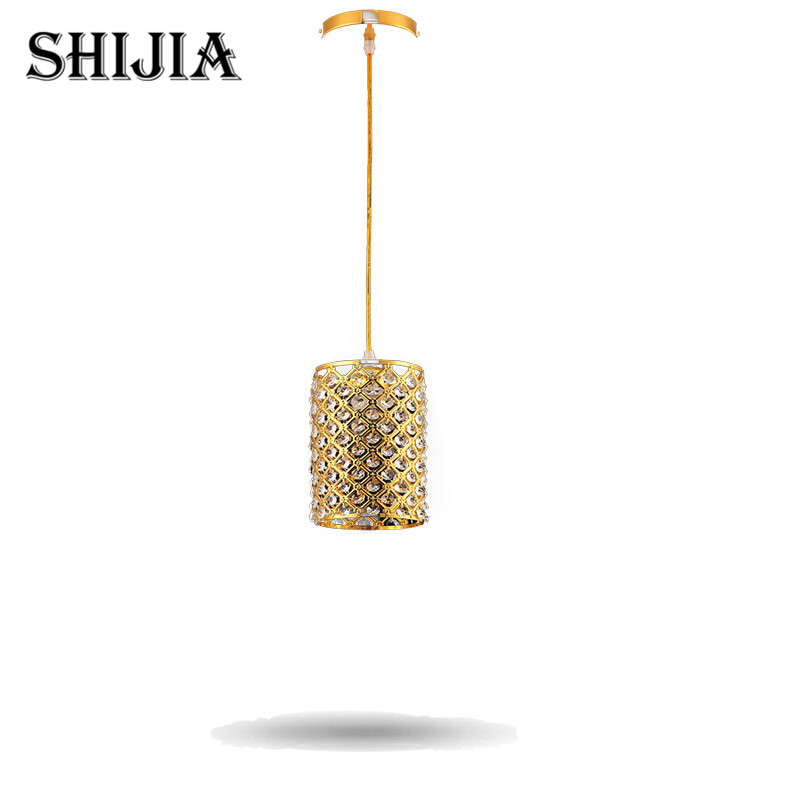 New Modern Fashion Bar Aisle Gold and Silver Crystal Lamps Stairs Elegant Crystal Chandeliers For Foyer Living Room