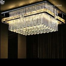 Прямоугольный СВЕТОДИОДНЫЙ crysal люстра высокое качество на потолке зала люстра кристалл лампы Высококлассные атмосферу