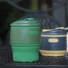 350ML Foldable Coffee Cups Heat Insulation Silicone Travel Tea Cup Seal Leak Proof Espresso Outdoor Portable Tazzine Caffe