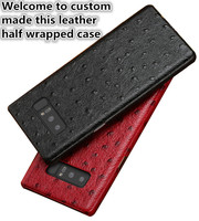 NC06 Ostrich patterm genuine leather hard cover for Xiaomi Mi5X phone case for Xiaomi Mi5X leather hard case