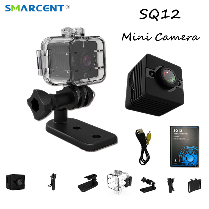 SQ12 Waterproof 155 degree wide-angle lens mini camera HD 1080P Motion detection Camcorder DVR Sport video recording SQ11 pk SQ8