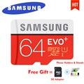 Samsung evo plus cartão micro sd 64 gb 32 gb 16 gb 256 gb class10 MicroSDSDXC UHS-I 80 MB/S SDHC tf 64 GB 128 GB + Adaptador SD 256g