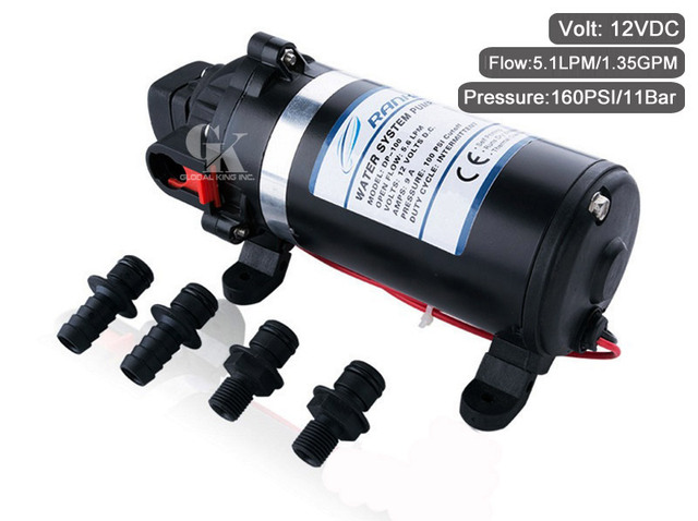 Dc 12v high pressure self priming diaphragm pump 160psi agricultural dc 12v high pressure self priming diaphragm pump 160psi agricultural spraying water pump ccuart Images