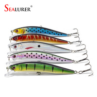SEALURER Brand 5pcs Lifelike Fishing Lure 10cm 8 3g 6 Hooks Pesca Fish Minnow Lures Wobbler
