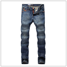 High Quality New Fashion Designer Men Jeans Famous Brand Straight Denim Biker Jeans Slim Fit Pocket