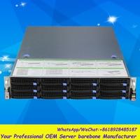 Stable Huge Storage 12 Bays 2u Hotswap Rack NVR NAS Server Chassis