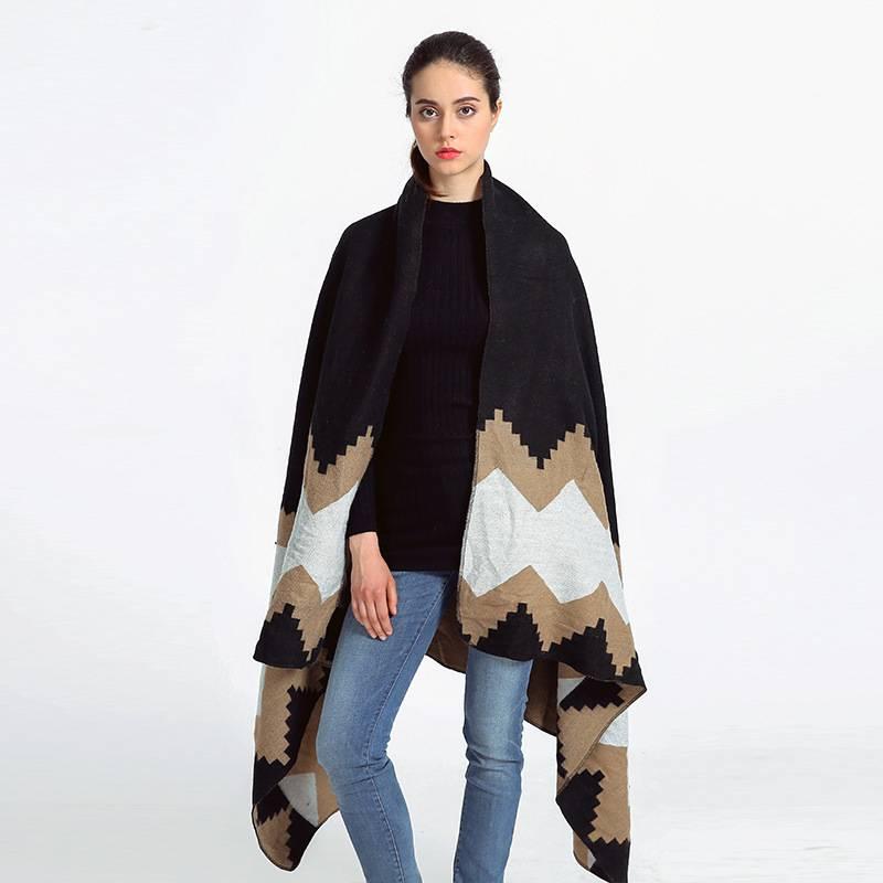 Fashion Patchwork Echarpe Hiver Femme Brand font b Tartan b font Foulards Women Long Thick Cashmere