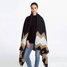 Fashion Patchwork Echarpe Hiver Femme Brand Tartan Foulards Women Long Thick Cashmere Pashmina Shawls YJWD775