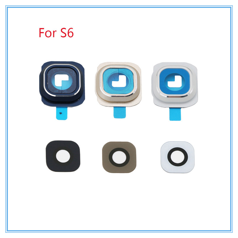 Original New Camera Glass Lens Cover With Frame Holder Replacement for Samsung Galaxy S6 S6 edge S6 edge Plus Gold White Blue|camera glass galaxy|cover covers|cover for samsung galaxy - title=