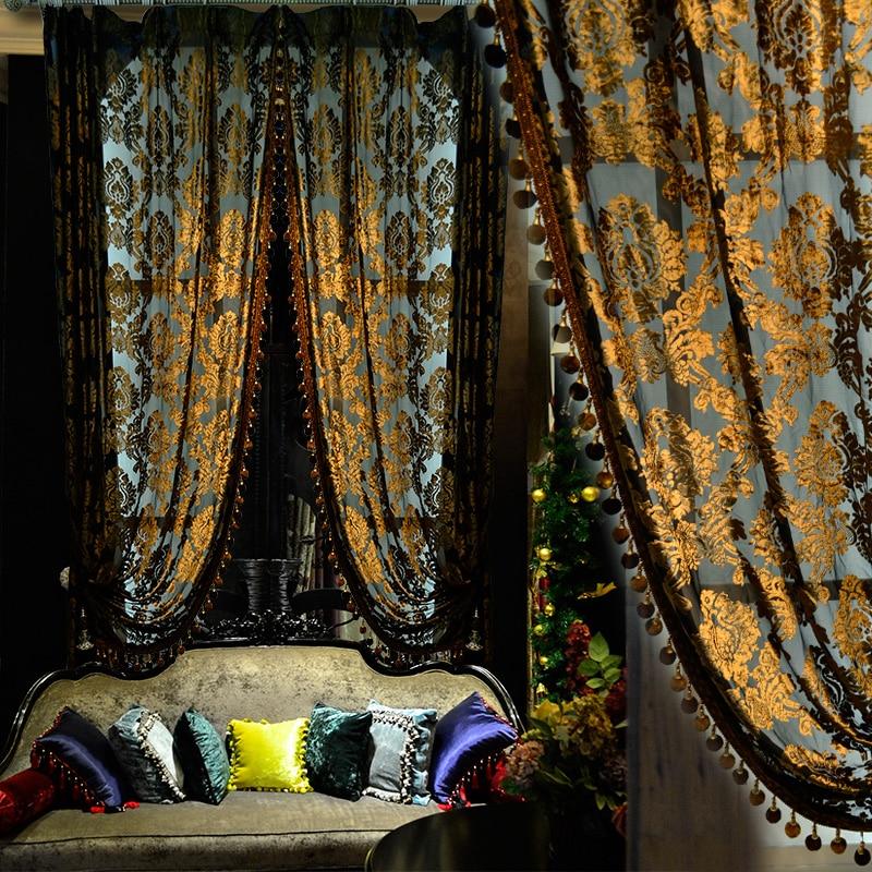 customized curtain highgrade velvet sheer curtain yarn silk velvet sheer tulle e015china - Velvet Curtain