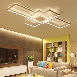 Image 4 - NEO Gleam New Arrival Black/White LED Ceiling Chandelier For Living Study Room Bedroom Aluminum Modern Led Ceiling Chandelier
