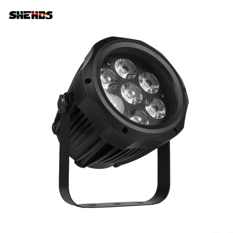 SHEHDS High Quality Waterproof LED Par 7x12W RGBW Light Outdoor IP65 Waterproof DMX Effect Stage Lights