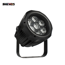 SHEHDS กันน้ำ LED PAR 7x12W RGBW Light กลางแจ้ง IP65 กันน้ำ 7X18W 6in1 DMX Effect เวทีไฟ Professional STAGE DJ