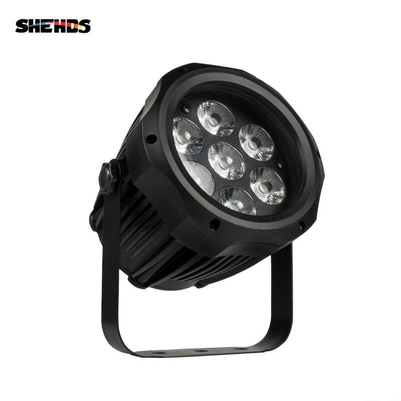 SHEHDS haute qualité LED étanche Par 7x12W RGBW lumière extérieure IP65 étanche DMX effet scène lumières professionnel scène DJ