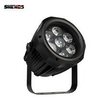 SHEHDS wodoodporna LED Par 7x12W RGBW światło na zewnątrz IP65 wodoodporna 7x18W 6w1 DMX efekt światła sceniczne profesjonalny etap DJ