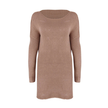 Women Autumn Winter Casual Loose O-neck Long Sleeve Knitted Shirt Sweater