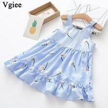 Vgiee Dress for Baby Girl Dresses 2019 Summer Party Princess Dress Sleeveless Print Little Girls Clothing CC334