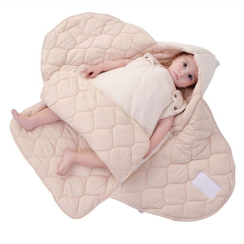 Nouveau-né infantile bébé coton couverture d'emballement sac de couchage printemps automne bébé sac de couchage kangourou transporteur bambin sac de sommeil