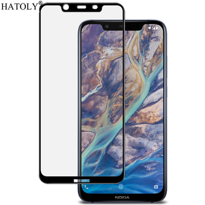 Image 2 - 2Pcs For Nokia 8.1 Glass Tempered Glass for Nokia 8.1 X7 HD Film 9H Full Glue Full Cover Screen Protector for Nokia 8.1
