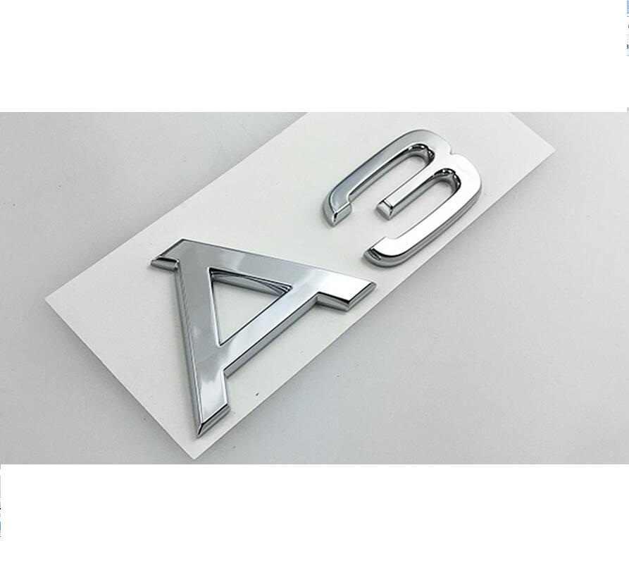 Chrome Arrière Coffre Lettres Insigne Emblèmes Badges pour Audi A3 A4 A5 A6 A7 A8 A4L A6L A8L Q3 Q5 Q7 35 40 45 50 55 TFSI