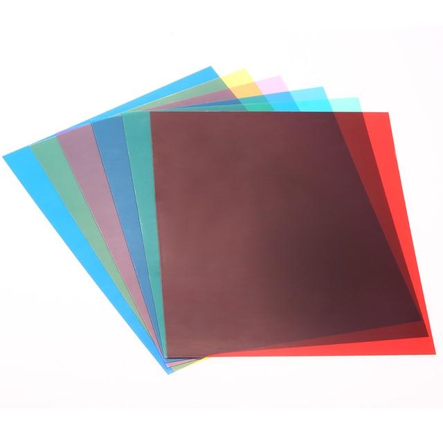 6pcs 25 * 20cm Lighting Color Correction Gel Sheets Filters Set For Flash  Light Speedlite ( Design Ideas