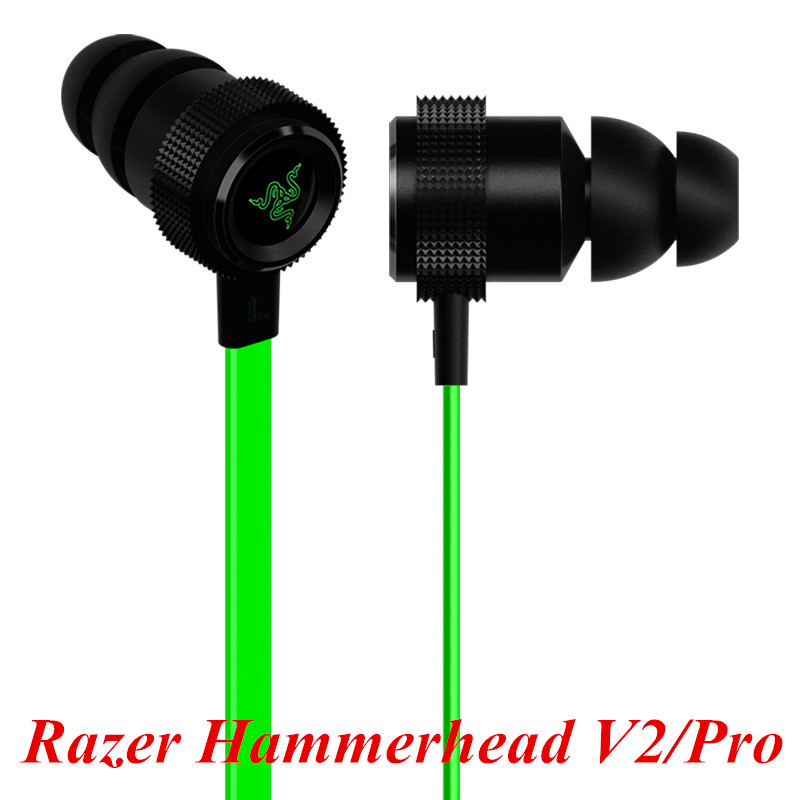 Newest In ear gaming headset for Razer Hammerhead V2 Pro earphone wiht mic Noise isolation stereo deep bass for fone de ouvido