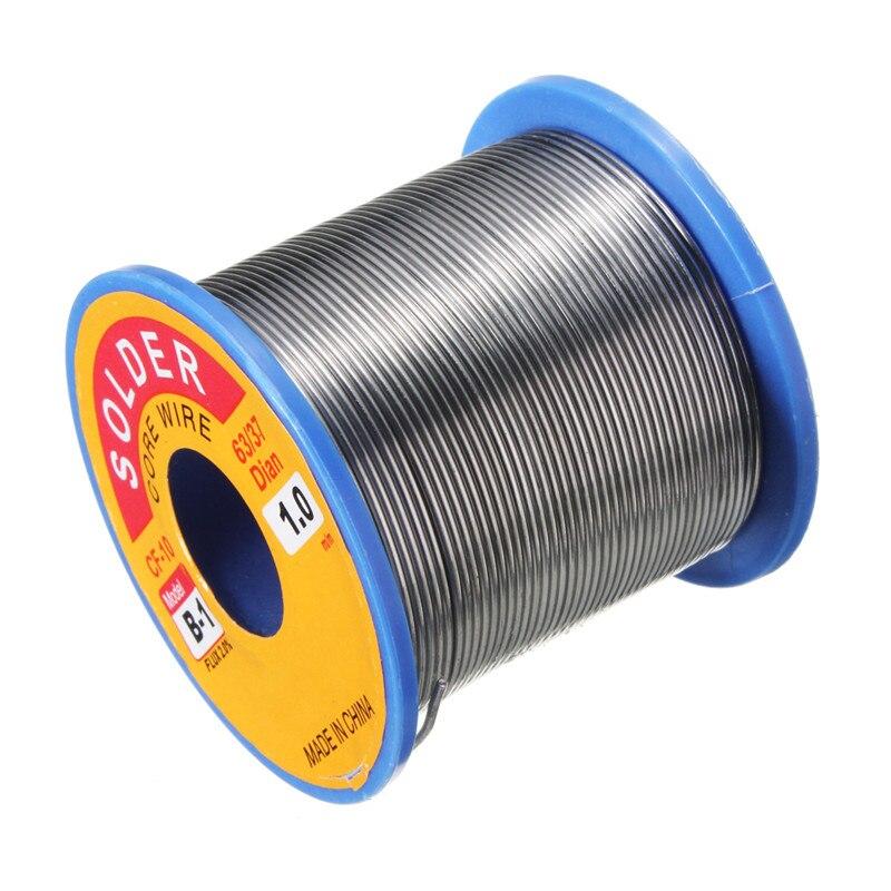 Neueste 63/37 1,0mm 300g Zinn Blei Harz-kern Solder Flux Löten schweißen Eisendraht Reel FLUX 2.0% 55x50mm Heißer