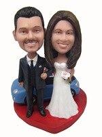 Express miễn phí vận chuyển Cá Nhân búp bê bobblehead món quà cưới trang trí đám cưới polyresin búp bê Tùy Chỉnh