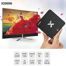 SCISHION Model X 4K Smart TV Box Android 8.1 Rockchip3229