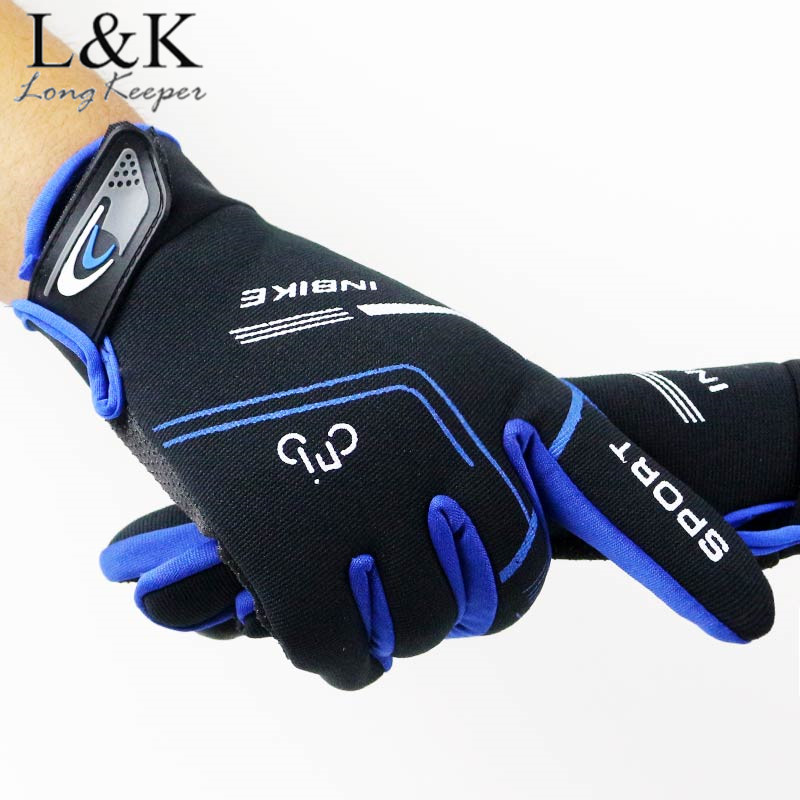 Long Keeper Mens Riding Gloves Hot Sale Outdoor Sports Male Fingerless Gloves Touch Screen Breathable Skiing Windproof Gloves