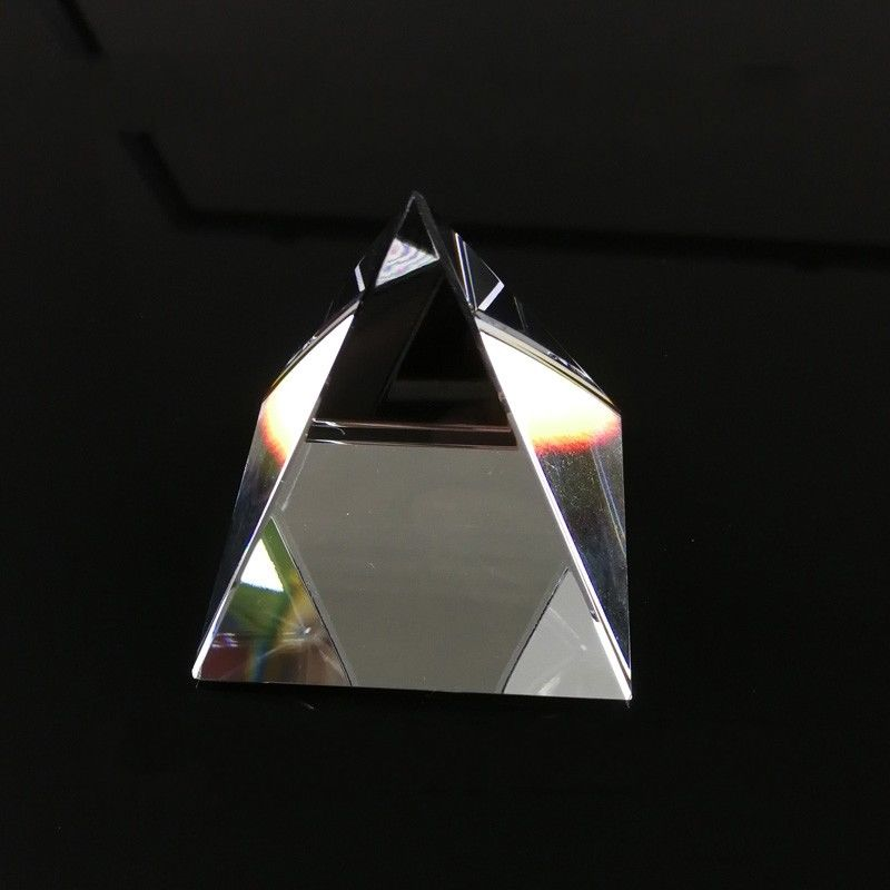 1PC 150mm Optical Glass Four Sides Pyramid Prism For Optical Experiment Optics Instruments Rainbow Principle Research