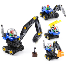 Toys for Children Model Building Kits Blocks LOZ Learning Education Machines Loader Car Toy Blocks Compatible With Legoe Duplo 2