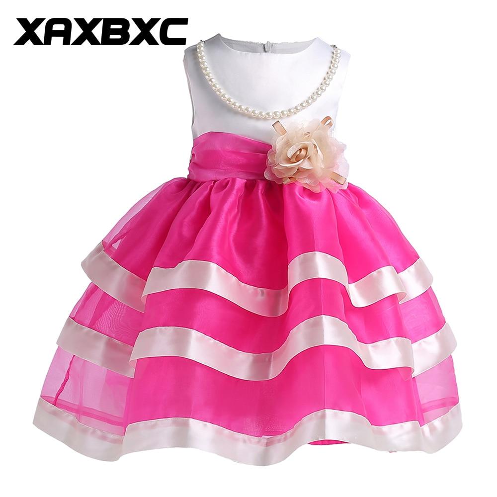 ツ)_/¯ZT-T2017 flores princesa vestidos niños prom vestido de noche ...
