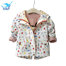 2016 New Girl's Fashion jackets Girls Outerwear & Coats Trench Girls Hoodies Jackets, Children's Coat, Spring Autumn Baby Coats