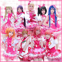 Love Live Cosplay All Members Uniforms Skirt Pink Dress Love Live Costume Arcade Game After School
