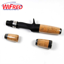 Wifreo 1Set Soft Cork Split Grip Rod Handle Baitcast Fishing Rod Building and Repair DIY Tackle with Plastic Reel Seat Rear Grip