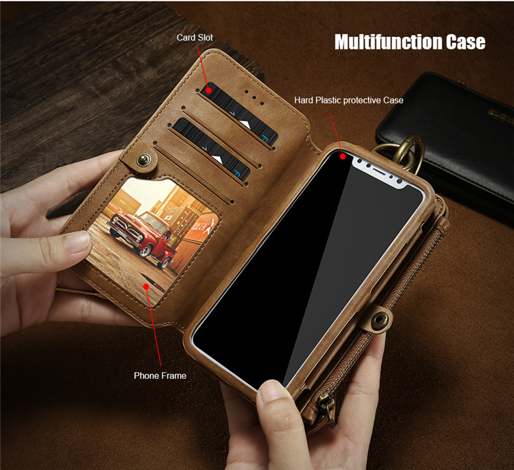 FLOVEME Luxury Retro Wallet Phone Case For iPhone 7 7 Plus XS MAX XR Leather Handbag Bag Cover for iPhone X 7 8 6s 5S Case shell