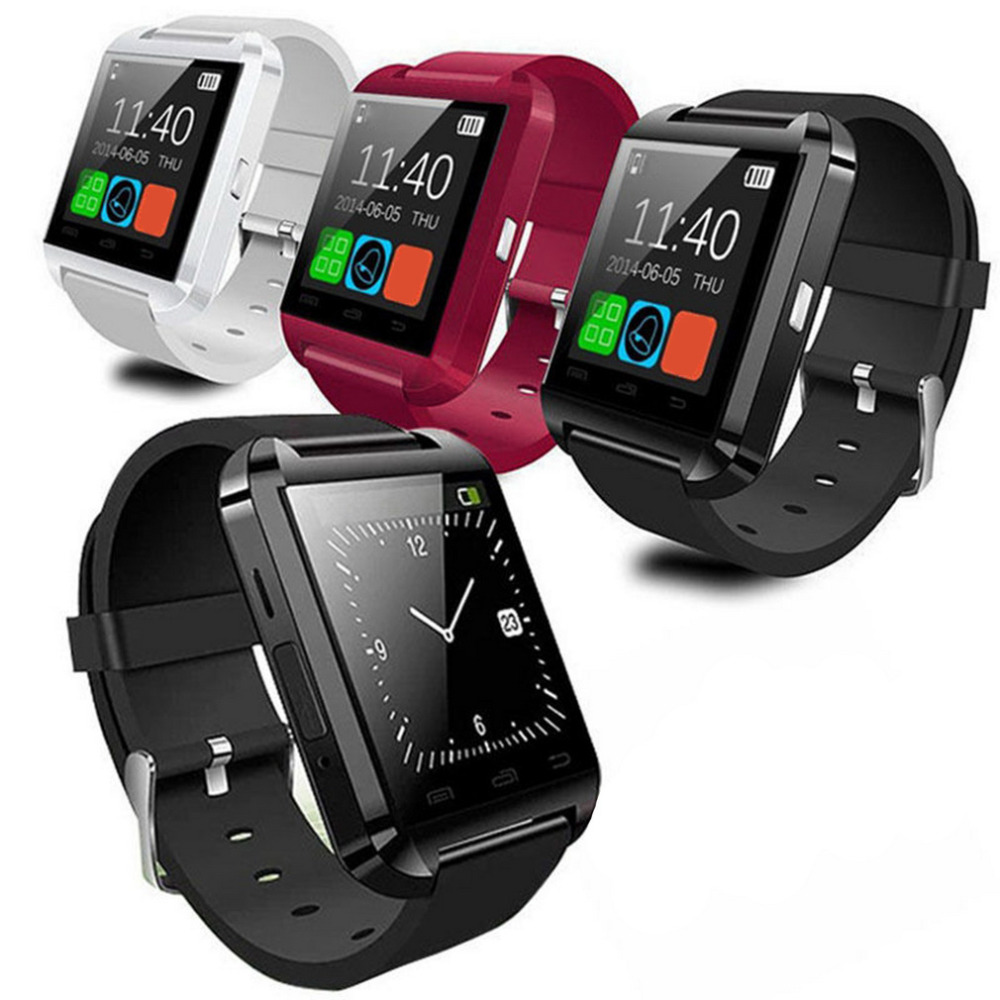 """1.48"""" TFT LCD Smart Wrist Watch Phone Mate U8 Bluetooth V3.0 + EDR For iPhone IOS For Samsung Android Black White Red"""