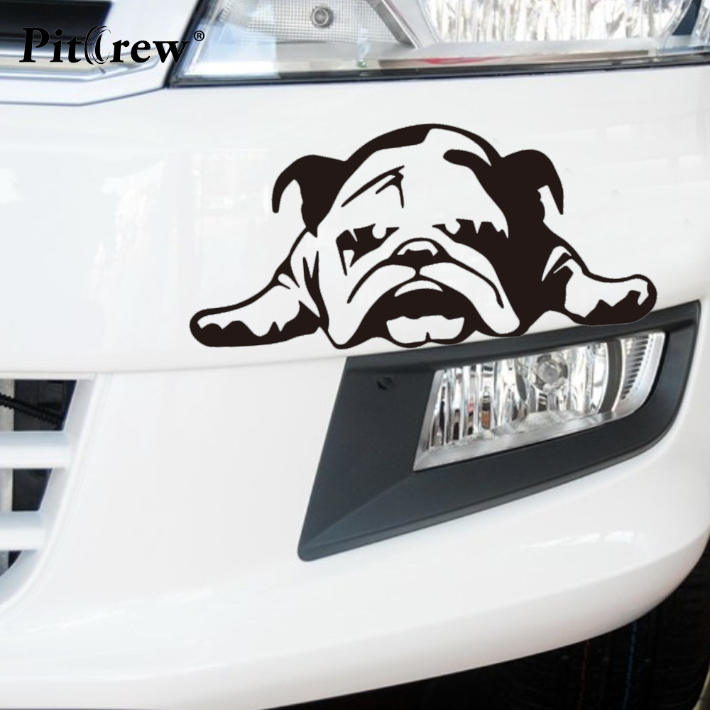 Bumper sticker maker free online - 2016 1pc 22 2 10 8cm Lovely Cute Boring Bulldog Animal Car Styling Anime Motorcycle Car