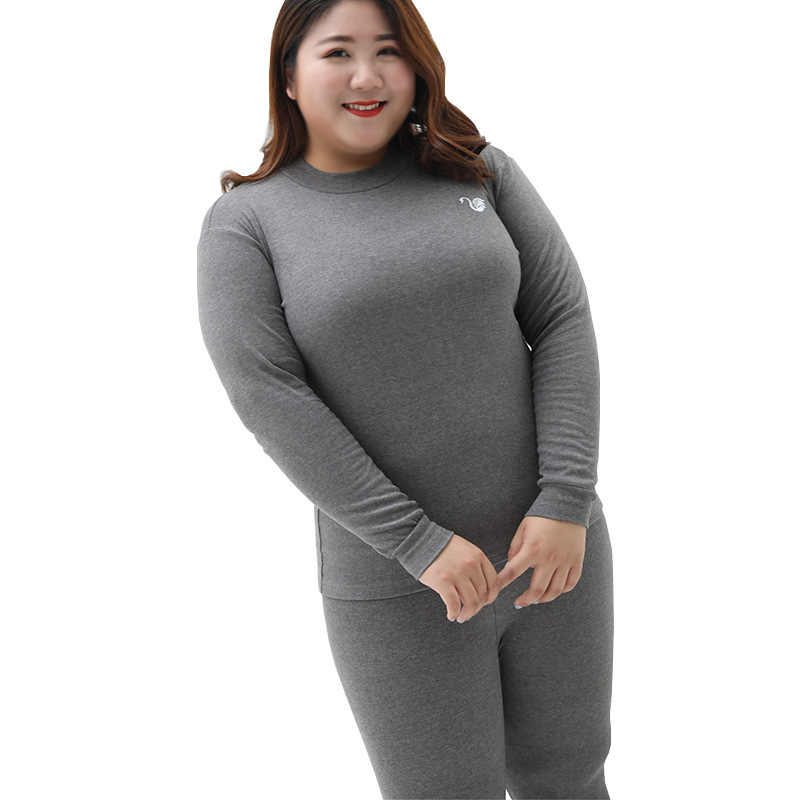 ebc9a22cb76ec ... UIECOE Plus Size Thermal Underwear for Women Cotton Long Johns Set  Ultra-Soft Base Layer ...