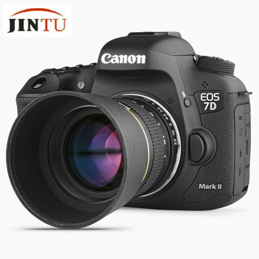 JINTU 85mm f/1.8-F22 Portrait Aspherical Manual Camera Telephoto Lens For Canon EOS 5D mark iii ii 7D ii 6D 80D 70D 60D 60Da 40D цифровая фотокамера canon eos 7d mark ii body wi fi adapter 9128b128