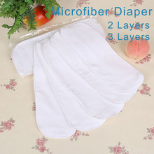 10 pieces Cloth Diapers For Newborn Baby 2 Layers Disposable Diapers Nano Microfiber Reusable Nappies Washable Nappy Inserts V49