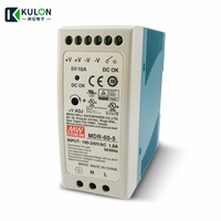 Free Shipping Meanwell MDR 60 Single Phase PSU 60W 12V/5A 5V/10A 24V/2.5A 48V/1.25A DIN Rail Mounted Industrial Power Supply