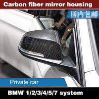 2 PCS BMWW 3 Série 1/2/3/4/5/7 Ministère GTX1F20F30F32F10F18 changement carbone fiber de shell miroir couverture de recul