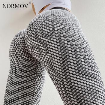 NORMOV High Waist Dot Fitness Leggings Women Workout Push Up Leggings Activewear Leggings Fitness Feminina Jeggings