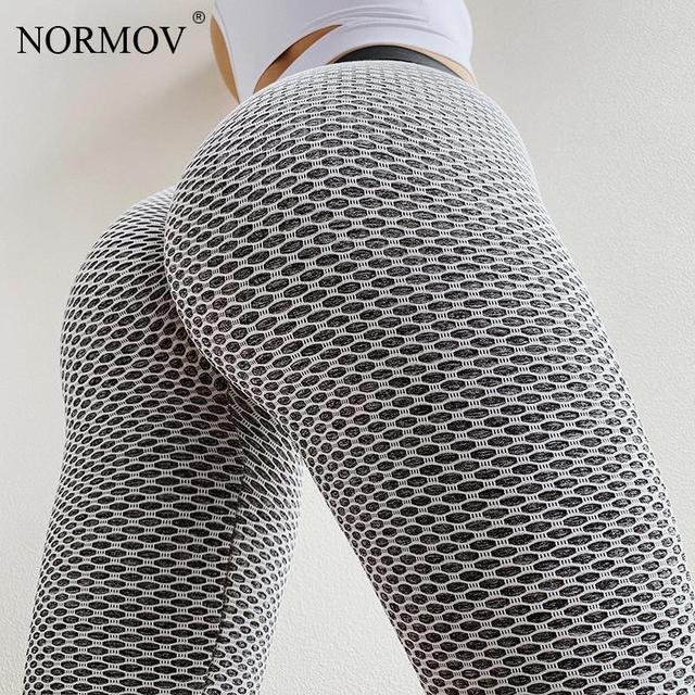 NORMOV High Waist Dot Fitness Leggings Women Workout Push Up Leggings Activewear Leggings Fitness Feminina Jeggings 2